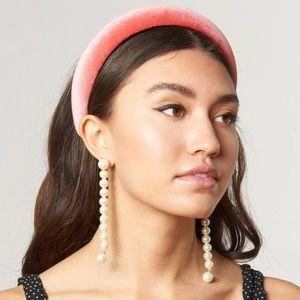 NWT Lele Sadoughi Caterpillar Pearl Earrings